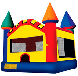 10'x10' bounce house with basketball hoop inside